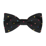 Colour Dots Black Bow Tie