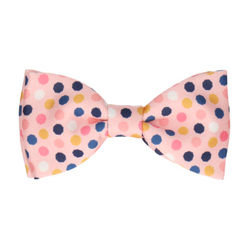 Pink Contemporary Dots Bow Tie
