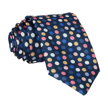 Ackerman Dots Navy Blue Tie