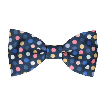 Navy Blue Contemporary Dots Bow Tie