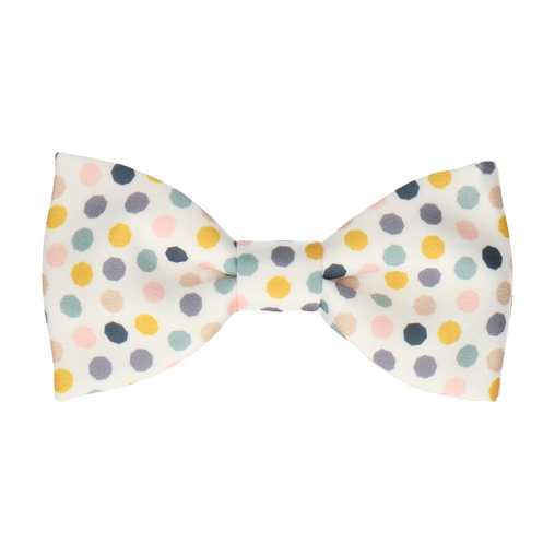 Ackerman Dots White Bow Tie