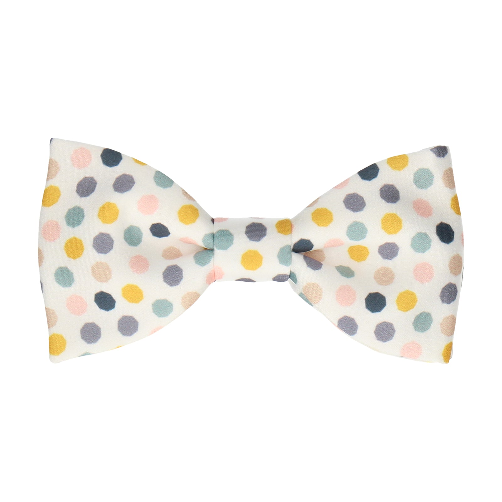 White Contemporary Dots Bow Tie