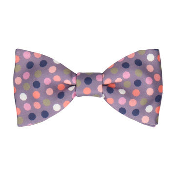 Mauve Purple Contemporary Dots Bow Tie