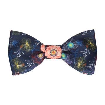 Nico Floral Orange Bow Tie