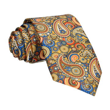 Boho Quirky Paisley Yellow Tie