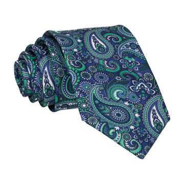Boho Quirky Paisley Blue Tie