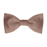 Plain Satin Mink Bow Tie
