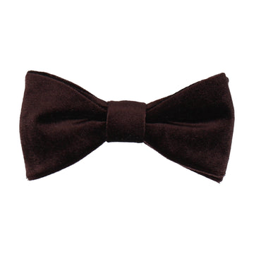 Dark Brown Velvet Bow Tie