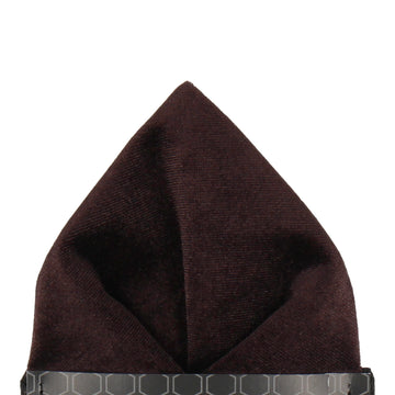 Velvet Brown Pocket Square