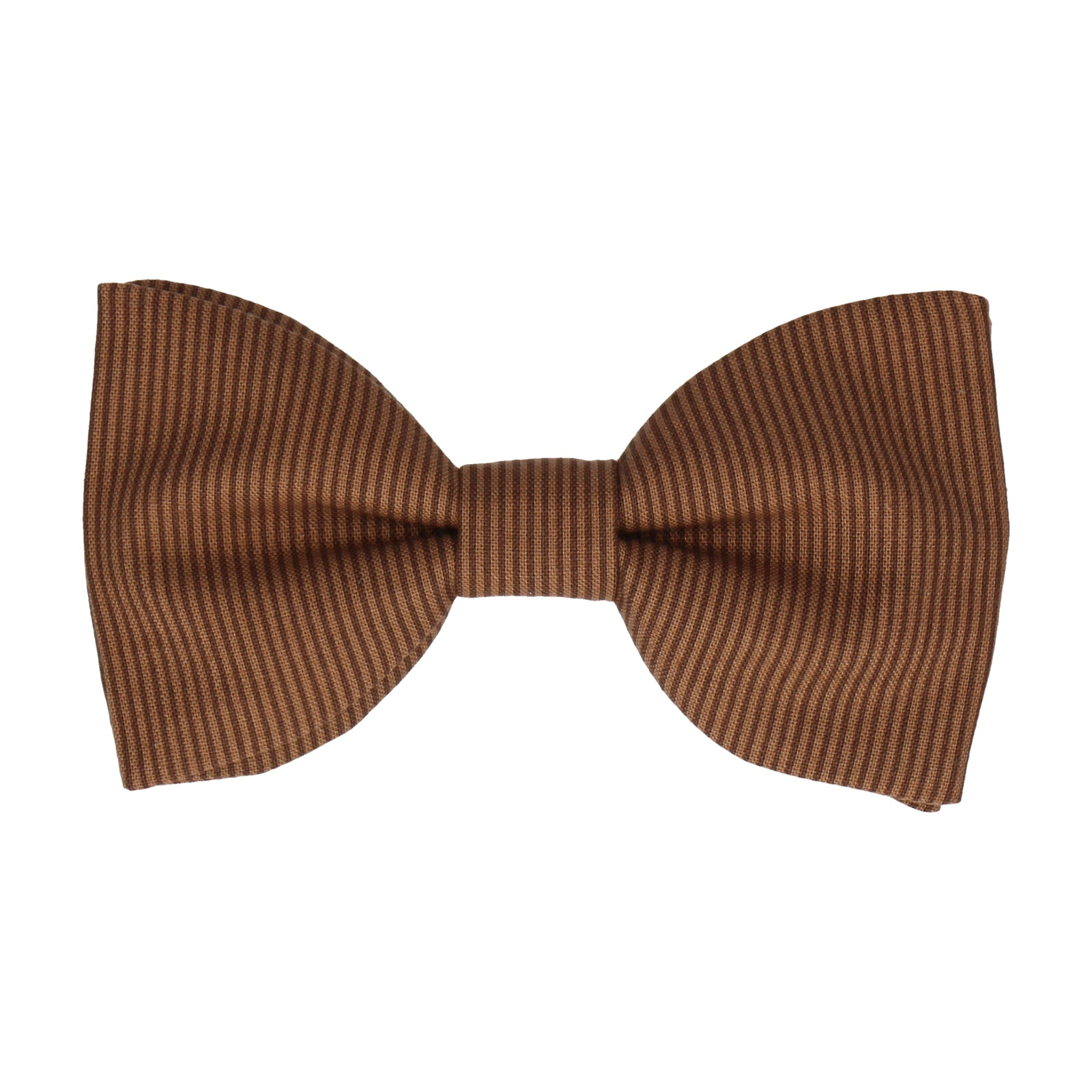 Brown Fine Stripe Cotton Bow Tie