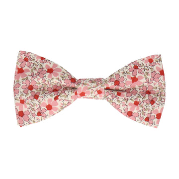 Floral Pink Cotton Bow Tie