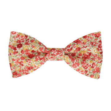 Red & Pink Summer Floral Bow Tie