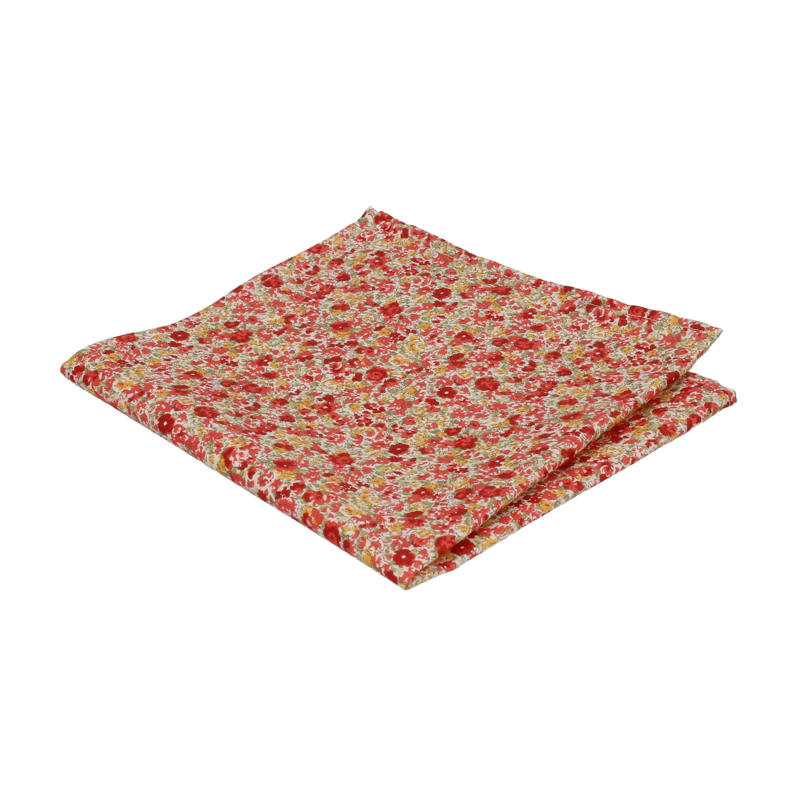 Red & Pink Summer Floral Pocket Square