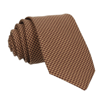 Brown Mini Houndstooth Tie