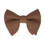 Brown Mini Houndstooth Large Evening Bow Tie