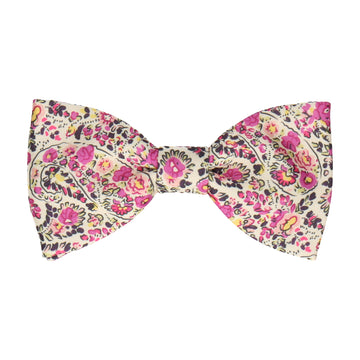 Baddow Pink Paisley Bow Tie