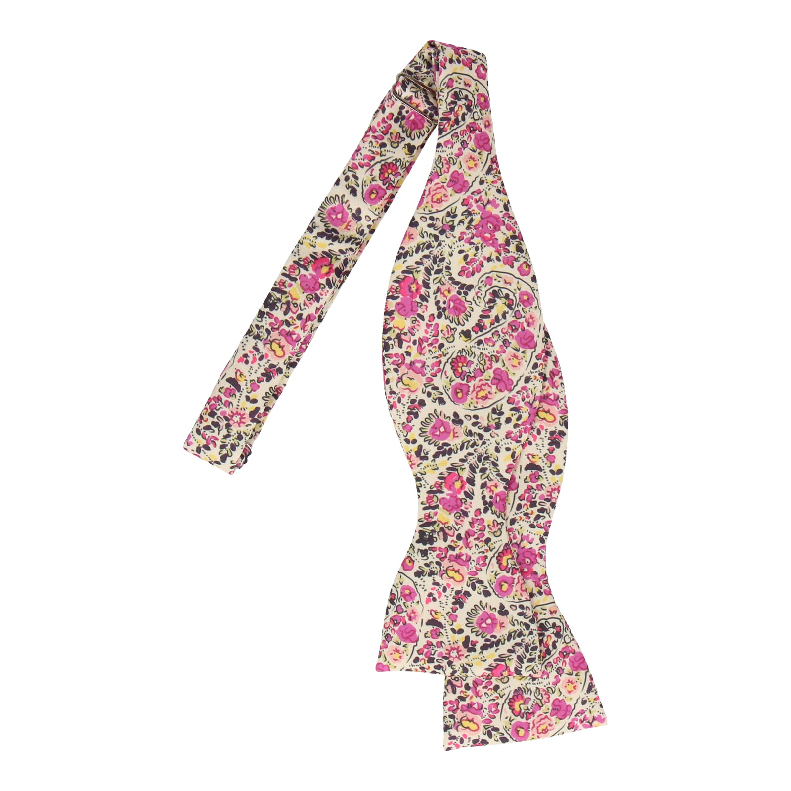 Pink Ditsy Floral Paisley Bow Tie