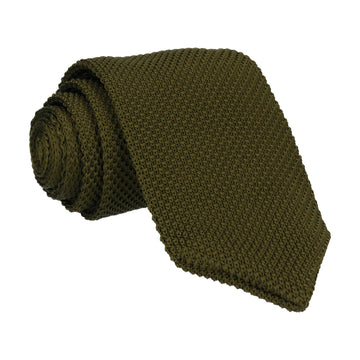 Forest Green Point Knitted Tie