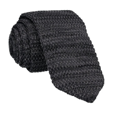 Dark Grey Marl Point Knitted Tie