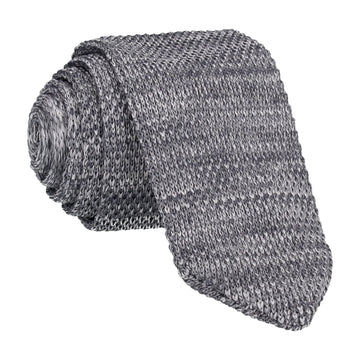 Grey Marl Point Knitted Tie