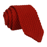 Rust Point Knitted Tie