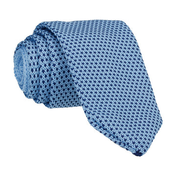 Blue/Navy Spec Point Knitted Tie