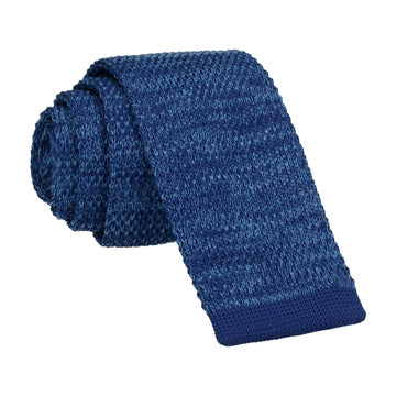 Blue Marl Knitted Tie