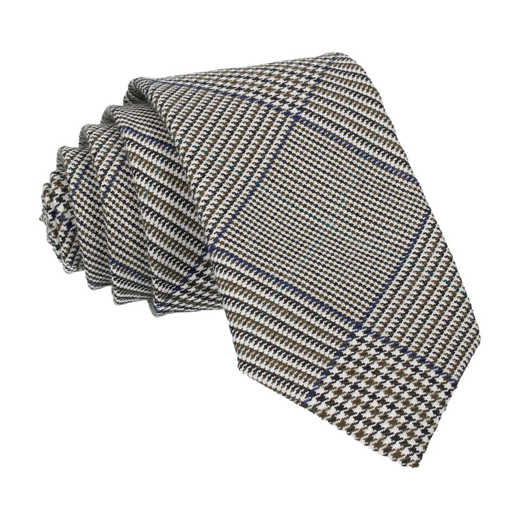 Blue Green Houndstooth Tie