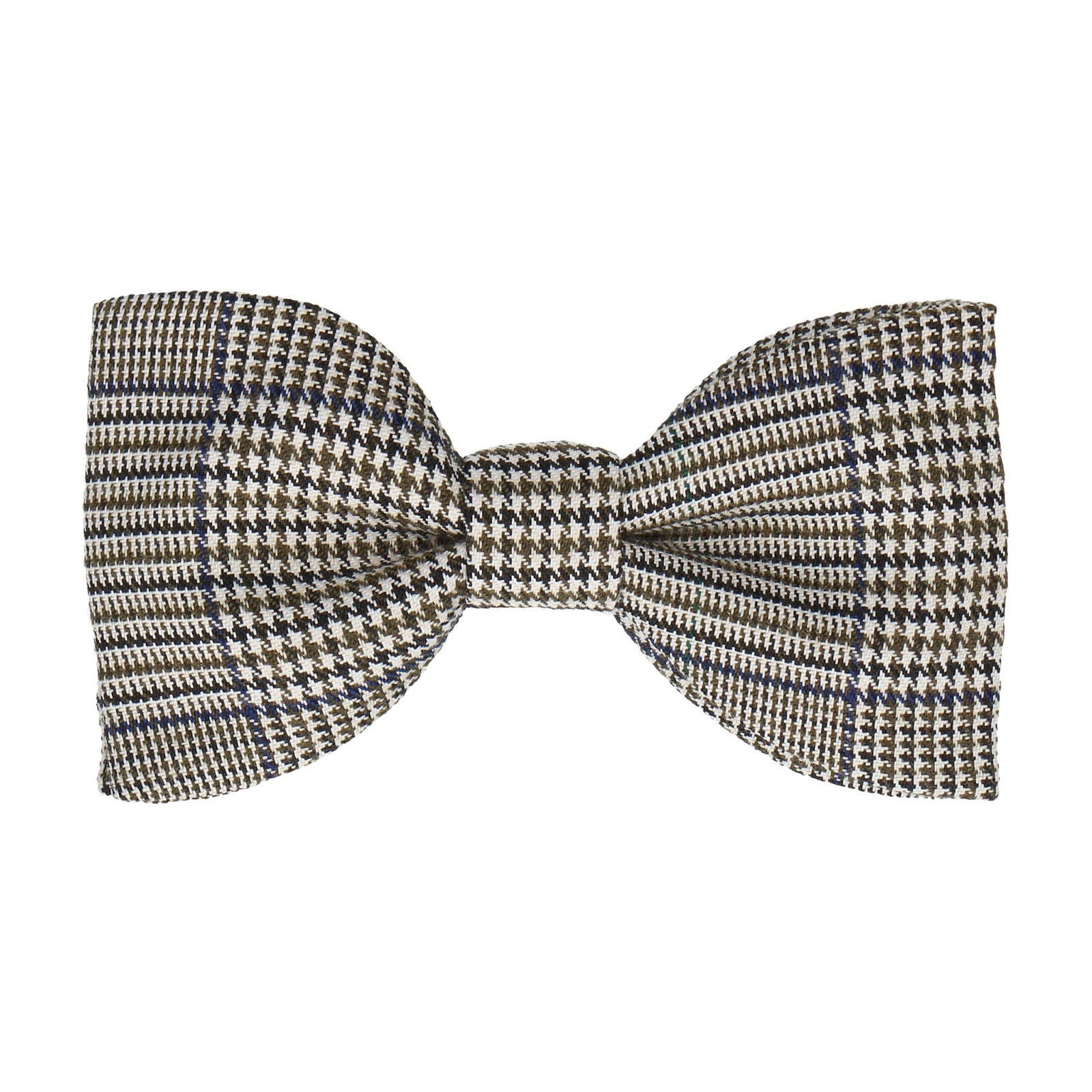 Blue Green Houndstooth Bow Tie