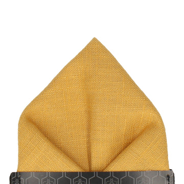 Linen Yellow Pocket Square