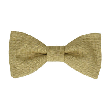 Linen Green Bow Tie