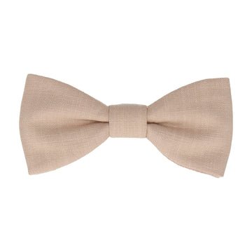 Champagne Soft Linen Bow Tie