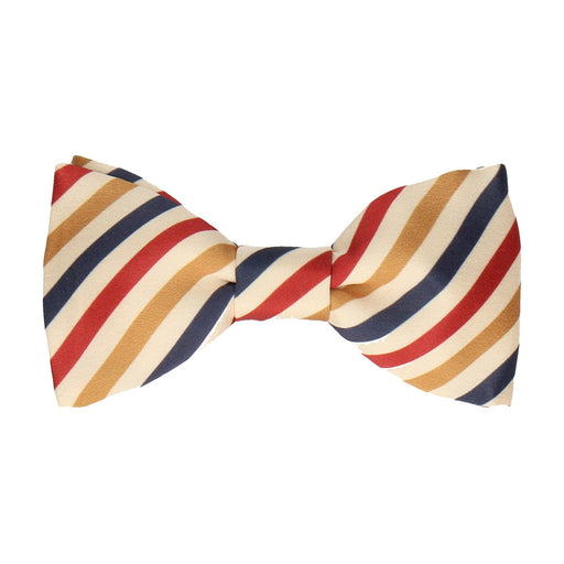 Alton in Vintage Navy & Red Bow Tie -Standard-Pre-Tie- - bowties by Mrs Bow Tie