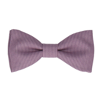 Purple Fine Stripe Cotton Bow Tie