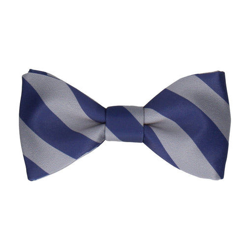 Alpha in Navy Blue & Grey Bow Tie