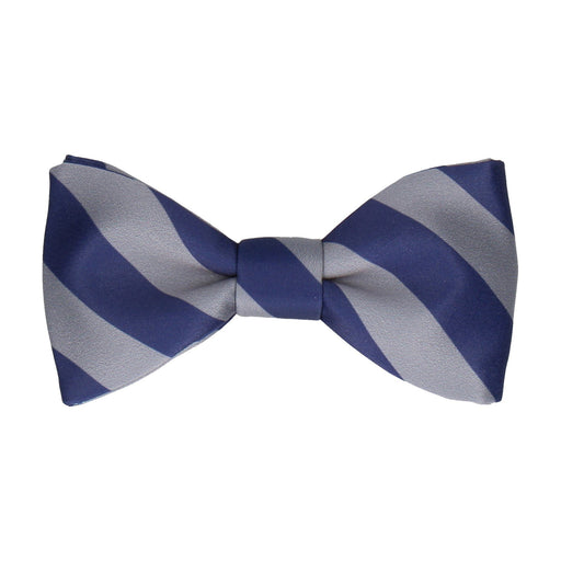 Alpha in Navy Blue & Grey Bow Tie -Standard-Pre-Tie- - bowties by Mrs Bow Tie