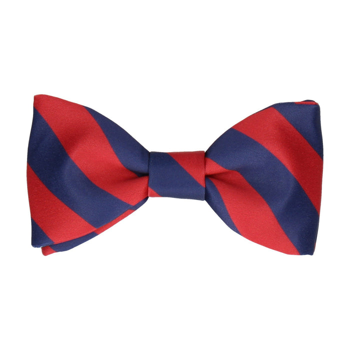 Alpha in Navy Blue & Red Bow Tie -Standard-Pre-Tie- - bowties by Mrs Bow Tie