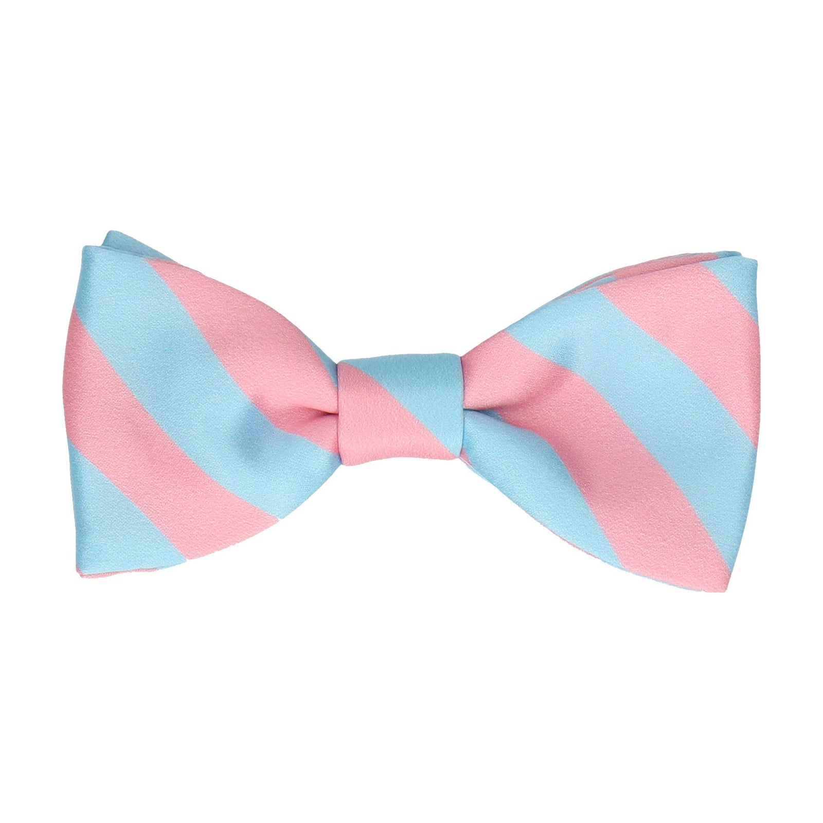 Pink & Light Blue Chunky Stripe Bow Tie
