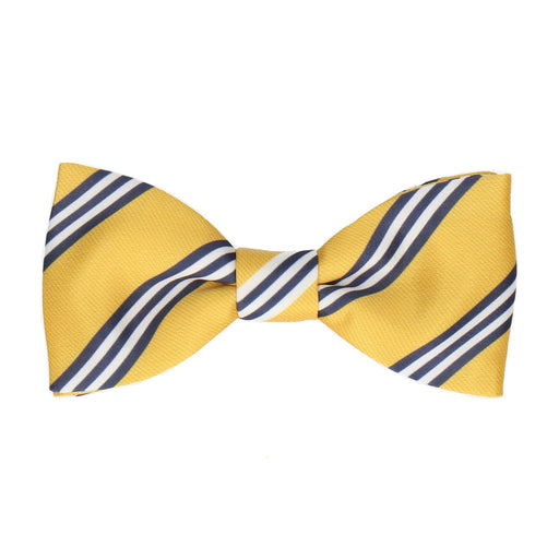 Bravo in Yellow & Navy Blue Bow Tie -Standard-Pre-Tie- - bowties by Mrs Bow Tie