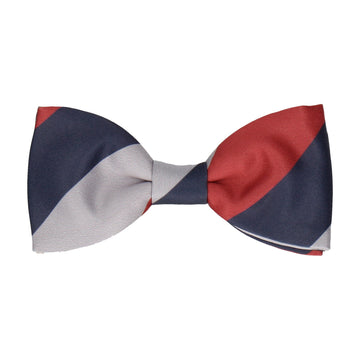 Durham in Navy Blue, Red & Grey Bow Tie