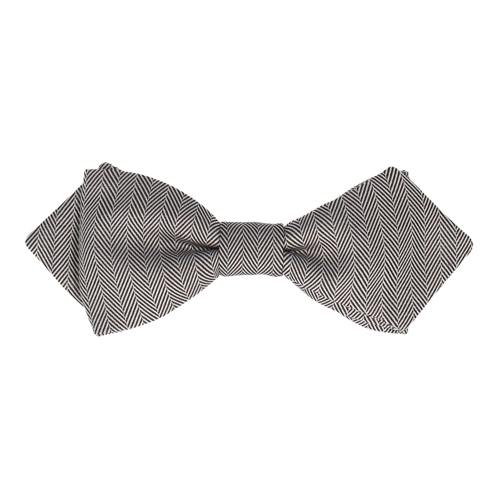 Herringbone in Monochrome Bow Tie