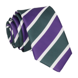 Suffragette Wimbledon Green, Purple & White Stripes Tie