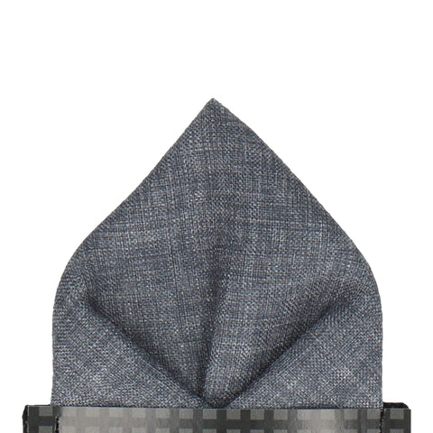 Isaac in Slate Grey Pocket Square