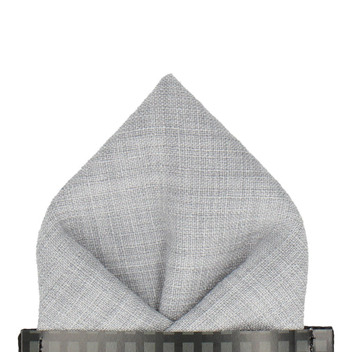 Isaac in Pale Grey Pocket Square
