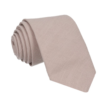 Champagne Plain Textured Cotton Tie