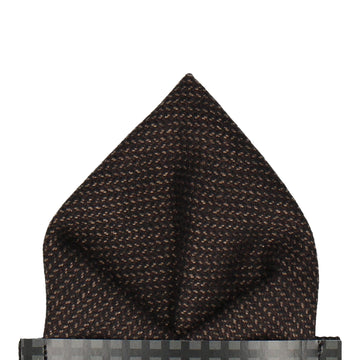 Dark Brown Woollen Pocket Square