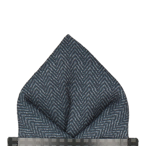 Duntrune in Charcoal Pocket Square