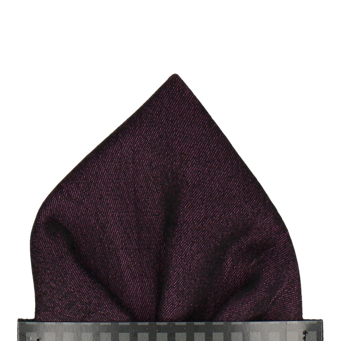 Finley in Aubergine Pocket Square