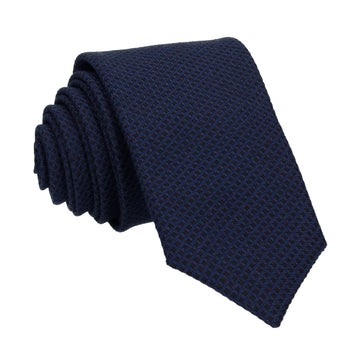 Smart Textured Navy Blue Tie