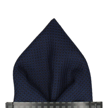 Smart Textured Navy Blue Pocket Square